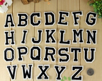Iron on Fabric Patches - Letters - FP70