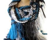 crochet shawl wrap stole Wool Mohair Winter women accessories ,crochet scarf Oversized hand crocheted shawl for her gift ideas senoAccessory