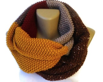 dr who Scarf style / Infinity Scarf Chunky Knit Scarf Men Scarf Winter Scarves Valentines Day Gifts //  Gifts For Her senoaccessory
