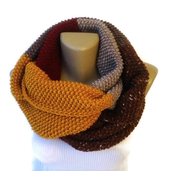 dr who scarf style infinity scarf chunky knit scarf