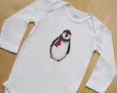 Penguin Baby Bodysuit Long Sleeve Unisex, Boy or Girl