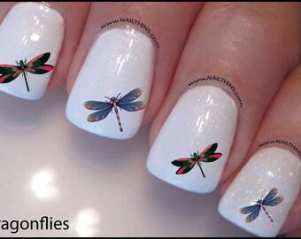 Dragonflies Nail Decal Design Nail Art