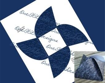 Navy Blue Printable Wedding Party Favor Box Blue Marble Faux Granite Gift Box Bon Bon Style