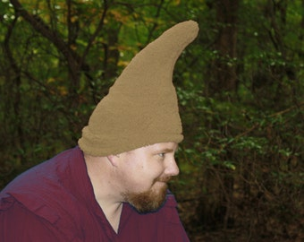 Gnome Hat - Adult size - Ready to ship - Camel