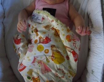 "Yellow Minky & Fairy Princess Mini Baby Blanket (""Yummy""): ""Lily Miss Sunshine"""