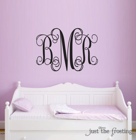 Monogram Decal Baby Nursery Wall Decals Teen Girl Monogram - Monogram wall decal for kids