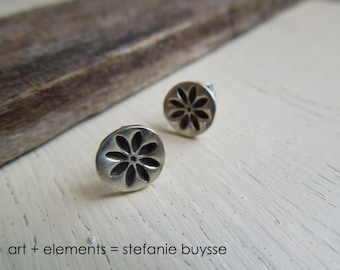 "ARTisan Made ""Daisy Petals"" Post Earrings - Sterling Silver - OOAK"