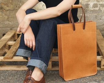 Hand Stitched Leather Tote