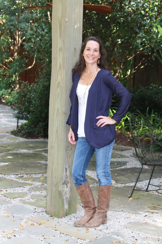 INSTANT DOWNLOAD Women's Draped Cardigan sewing pattern - womens cardigan - long sleeve- women sewing pattern - cardigan pattern