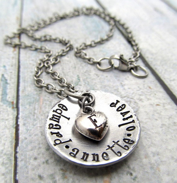 Personalized necklace hand stamped jewelry personalized for How do you make hand stamped jewelry
