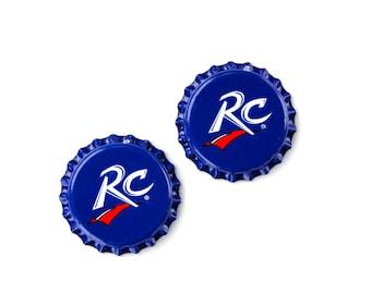 RC (R) Bottle Cap Cufflinks - Wedding Gift - Handmade - Gift Box Included