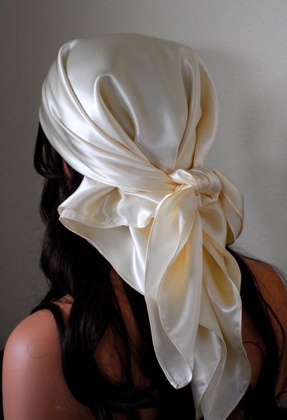 silk charmeuse scarf sleep or bandana scarf by adorabellababy