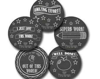 CHALKIES Personalized stickers for Teachers