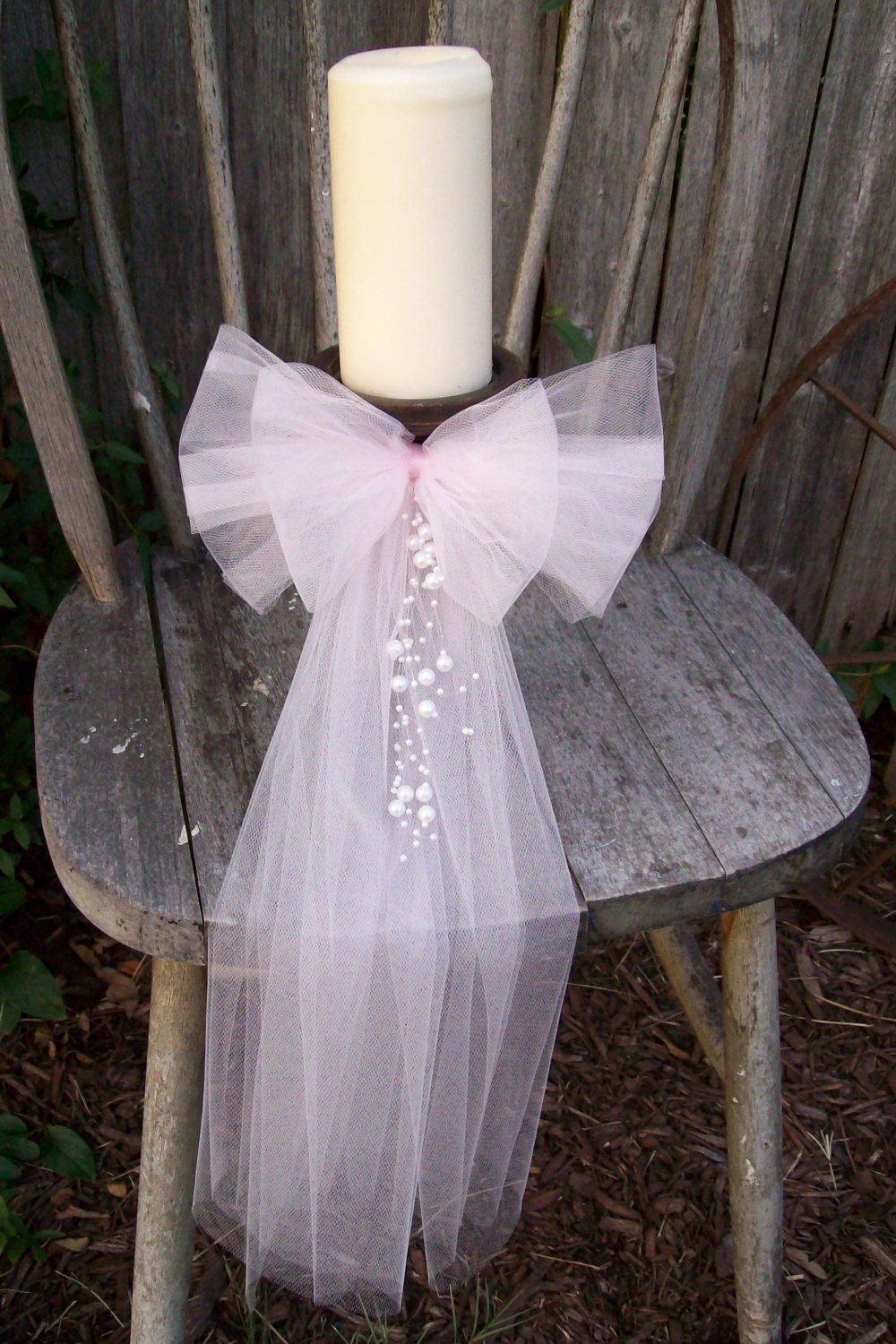 Centerpiece bow church decorations quinceanera wreath by onefunday - Bow decorations for weddings ...