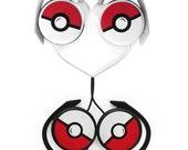 Poke-phones - Pokemon Headphones earphones white red