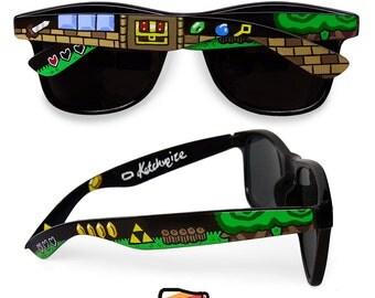 Legend of Zelda custom sunglasses unique video game gift customized gift for her gift for him boyfriend geek Triforce gamer wayfarer