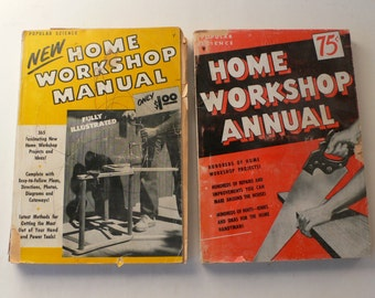 vintage Home Workshop Annuals 1950 and 1952 softcovers from Diz Has Neat Stuff