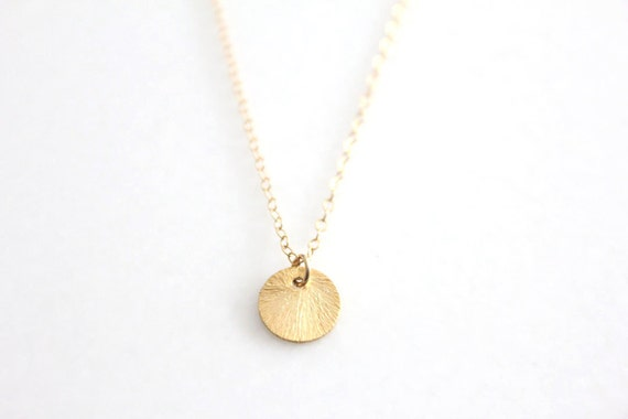Mini Disc Necklace // Gold or Silver