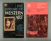 2 Art Books , A Dictionary of Art and Artists, and The History of Western Art, Vintage Paperbacks from the 1960s