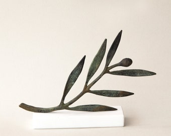 Bronze Sculpture, Olive Branch, Metal Art Sculpture, Museum Quality Art, Greek Art, Olive Sculpture, Goddess Athena Symbol, Greece
