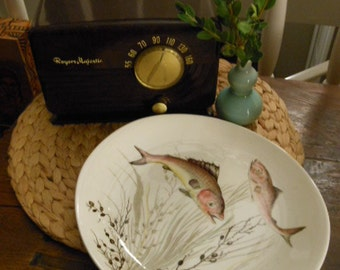 VIntage Johnson Brothers Ceramic Transferware Fish Plate Design #3 England