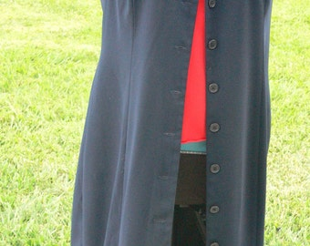 long navy blue summer sleeveless jacket size 14