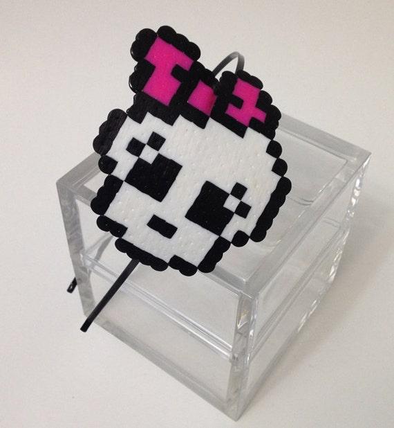 Items Similar To 8-bit Pink Bow Skull Monster High Pixel