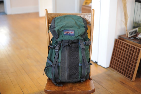 Vintage Jansport made in USA Green Oversize Hiking by TheOldWell