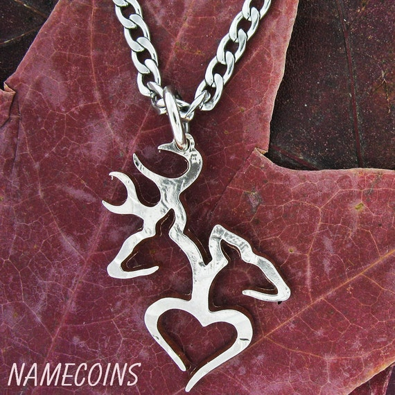 country necklace buck doe in 1 2 dollar by