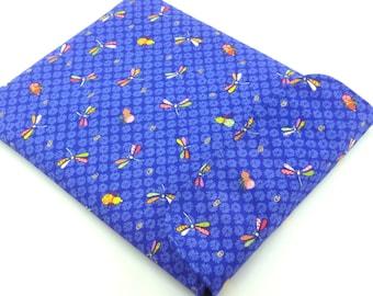 SALE Gift Idea For Him, Kimono iPad 4 Sleeve, Fabric iPad Case,Kimono Cotton Fabric Dragonfly Blue