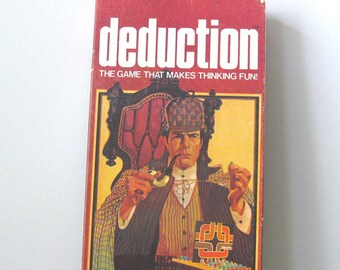 Vintage Game - Deduction -  IDeal - Board Game - 1976 - Retro Toy Game - Family Game Night