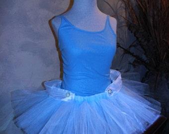 Princess Cinderella Inspired Walt Disney Movie Ladies Womens Girls Adult Fun Run Running Marathon Tutu Skirt Birthday Party Costume