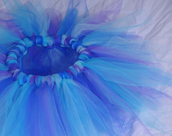 Toddler Tutu:  Purple & Blue Water Fairy / Ice Queen / Snow Princess  Tutu