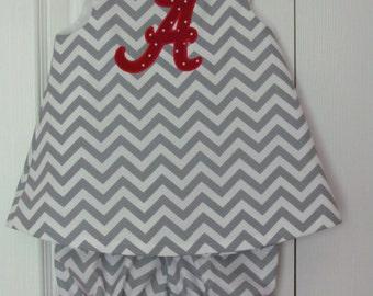 Chevron Bloomer Set Gameday Alabama Bama Roll Tide Football Collegiate Cheerleader