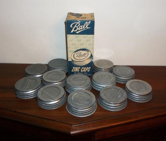 how to clean zinc mason jar lids