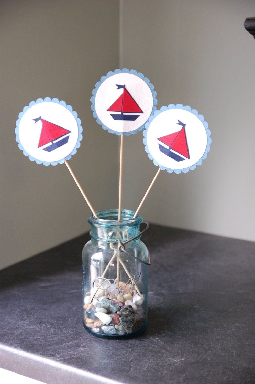 sailboat centerpieces nautical centerpieces 8 pcs sailboat