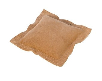 Square Sandbag Leather 6 in. - For Stamping, Chasing, and Forming - Helps Deaden Blow of a Bench Block - Metal Working Jewelry Tool