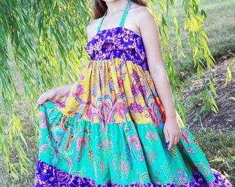 Cora's Tween Tiered Maxi Dress, Sun Dress, and Top PDF Pattern size 7/8 to 15/16 girls