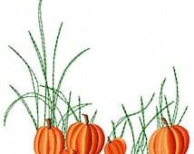 Pumpkins Embroidery Design - Instant Download