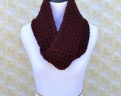 Infinity Scarf- Maroon- SIZE SMALL