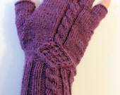 Made to Order: fingerless  gloves with cable detail