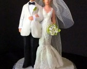 Keep it Simple and sleek this Summer Wedding cake toppers SAMPLE