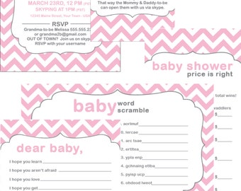Skype baby shower printable party kit