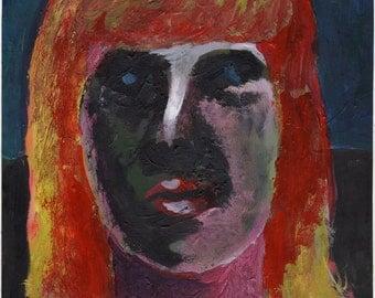 Original Painting - 'Lady' by Peter Mack