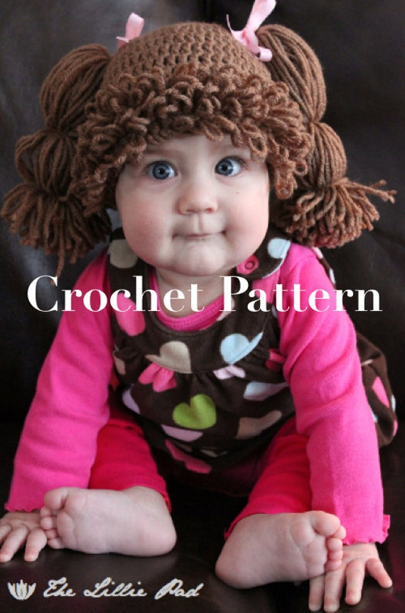 Cabbage Patch Kid Inspired Hat Crochet Pattern For By
