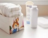 "Diaper Caddy -  Peter Rabbit Nursery - Fabric Storage Basket, Bin - New Baby Gift - Boy, Girl - Beatrix Potter - 7"" x 5"" x 4.5""h"