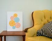 "Graphic Circle Pattern - 11x14"" print"