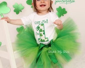Kiss Me, I'm One (any number) Birthday Tutu Outfit, St. Patrick's Day Birthday Tutu Set *Bow NOT Included*
