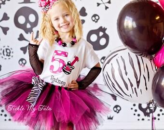 Rockstar Chic Birthday Tutu Outfit-Guitar Birthday Tutu Set-Rockstar Party Outfit *Bow NOT Included*