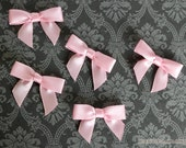 48 Mini PINK Satin Bows - Ready for crafting